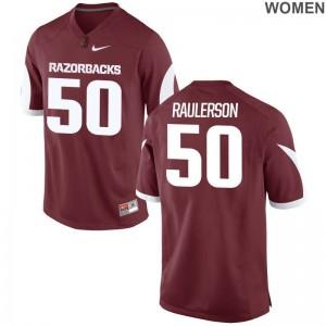 Jake Raulerson Razorbacks NCAA Jersey Game Cardinal Women Jersey