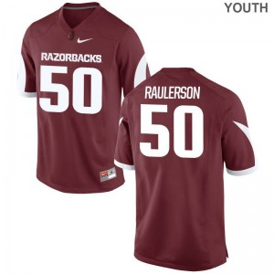 Jake Raulerson Game Jerseys Youth Razorbacks Cardinal Jerseys