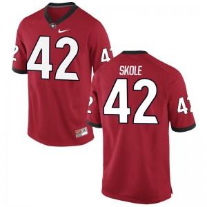 Jake Skole Georgia Bulldogs Jerseys S-3XL Game Mens - Red
