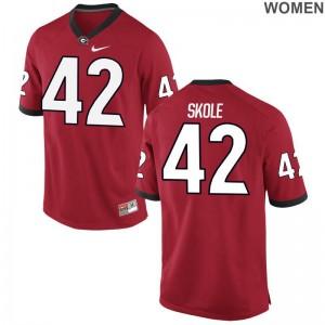 Georgia Jake Skole Jerseys S-2XL For Women Red Limited