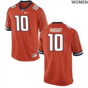 Fighting Illini James Knight Jersey For Women Orange Limited