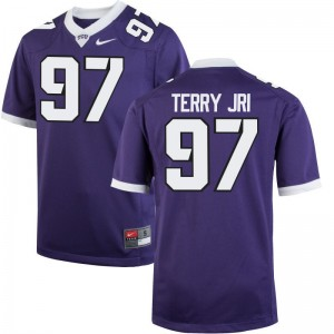 Texas Christian University James Terry Jr. Jersey For Men Game Purple Jersey