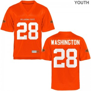 OK State Youth(Kids) Orange Limited James Washington Player Jersey