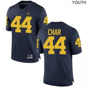 Game Jordan Navy Youth Michigan High School Jersey of Jared Char