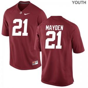 Jared Mayden Alabama Crimson Tide Jerseys S-XL Red For Kids Game