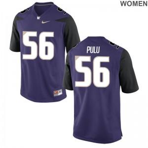 Jared Pulu Ladies NCAA Jersey Purple University of Washington Limited