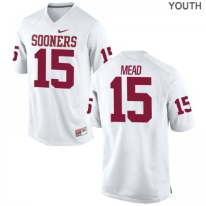 Jeffery Mead College Jerseys Oklahoma Sooners Game For Kids - White