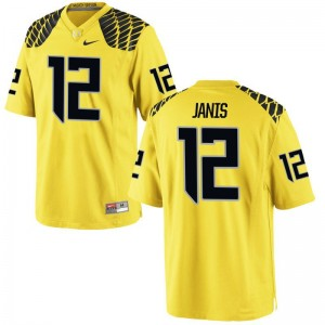 University of Oregon Jhet Janis Player Jersey Womens Limited Jersey - Gold