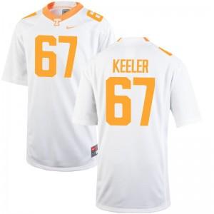 Men Joe Keeler Jersey White Game Tennessee Vols Jersey