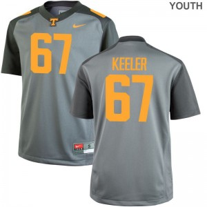 Joe Keeler Tennessee Volunteers College Jersey Gray Limited Youth Jersey