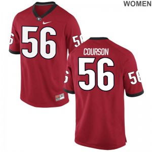 UGA Bulldogs Limited Ladies John Courson Player Jerseys - Red