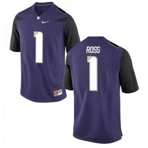 Limited Washington Huskies John Ross Mens Jerseys - Purple