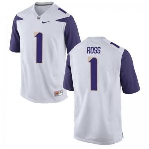 Limited John Ross Jerseys S-2XL University of Washington Ladies - White