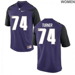 John Turner UW Huskies Jersey Purple Womens Limited