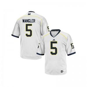 John Wangler Football Jersey Womens Michigan Wolverines White Limited