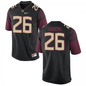 For Men Black Limited Florida State Seminoles Jerseys of Johnathan Vickers
