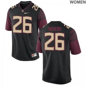 Johnathan Vickers Women Jerseys S-2XL FSU Seminoles Game - Black