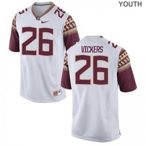 FSU Jerseys Johnathan Vickers Game Kids - White