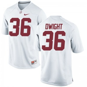 Alabama Johnny Dwight Youth(Kids) Game Football Jerseys White