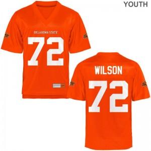 Youth Game Alumni Oklahoma State Jersey Johnny Wilson Orange Jersey