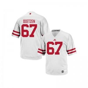 University of Wisconsin Jon Dietzen College Jerseys Authentic Men Jerseys - White