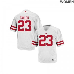 University of Wisconsin Alumni Jerseys Jonathan Taylor Replica White Women