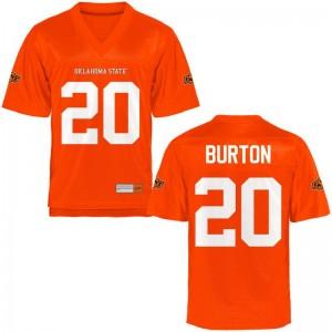 For Kids Limited NCAA Oklahoma State Jersey Jordan Burton Orange Jersey