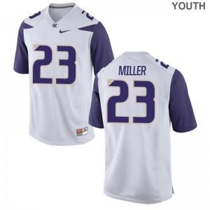 Jordan Miller Youth(Kids) Jerseys S-XL Game UW Huskies White