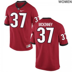 UGA Bulldogs Game Jordon McKinney For Women Red Jerseys