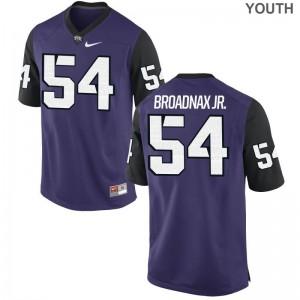 Purple Black Joseph Broadnax Jr. Jerseys S-XL TCU Horned Frogs Game Youth(Kids)