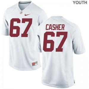 University of Alabama Josh Casher Jersey White Game Youth(Kids) Jersey