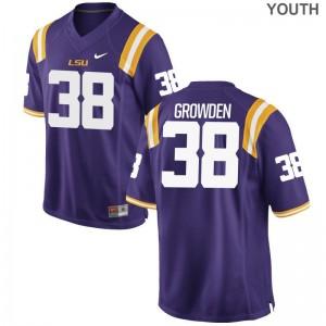 For Kids Purple Limited LSU NCAA Jersey Josh Growden