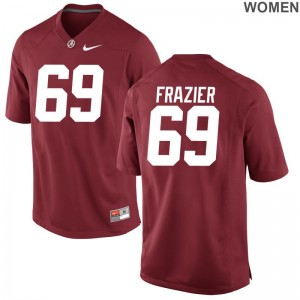 University of Alabama Limited Joshua Frazier Womens NCAA Jersey - Red