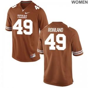 Joshua Rowland Jersey For Women UT Game Orange