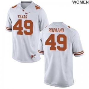 Joshua Rowland Womens Jerseys S-2XL UT Limited - White