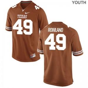 For Kids Joshua Rowland Jersey Orange Game Texas Longhorns Jersey