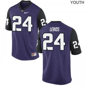 Julius Lewis Kids Jersey TCU Limited Purple Black