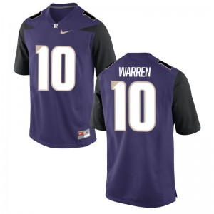 Washington Huskies Jusstis Warren Jersey Purple Youth(Kids) Game Jersey