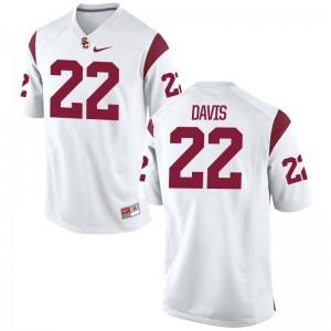 USC NCAA Jerseys of Justin Davis White For Men Game