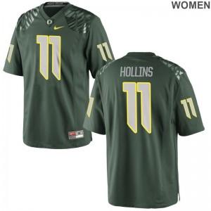 Limited Women Oregon High School Jersey of Justin Hollins - Green