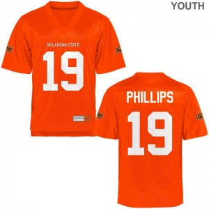 OK State Jerseys Justin Phillips Youth Game - Orange