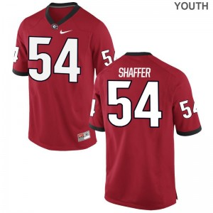 Justin Shaffer University of Georgia Jersey S-XL Red Limited Youth(Kids)