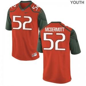 KC McDermott Hurricanes Jerseys S-XL Orange Kids Limited