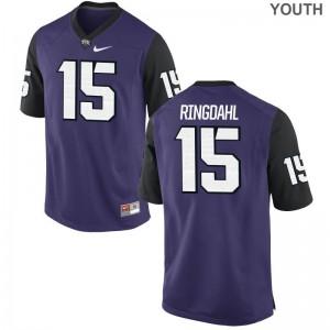 Texas Christian Karson Ringdahl Jersey S-XL Kids Limited Purple Black