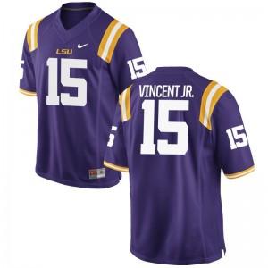 Kary Vincent Jr. LSU Tigers Purple Limited For Men NCAA Jerseys