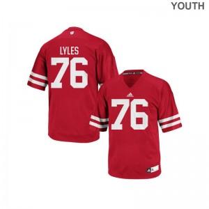 Youth(Kids) Authentic UW Jersey Kayden Lyles - Red
