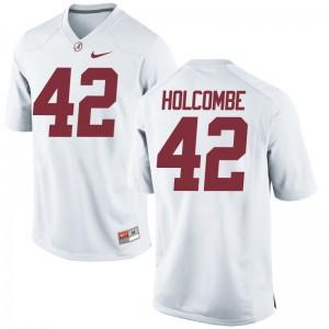 Keith Holcombe University of Alabama College Jersey White Game Men