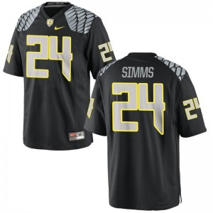 Ducks Keith Simms For Men Limited Black NCAA Jersey