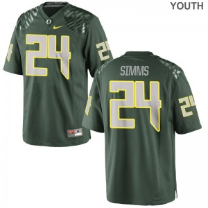 Oregon Keith Simms Jerseys S-XL Limited For Kids - Green