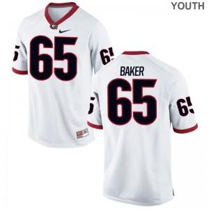 Kendall Baker For Kids Jerseys White Georgia Bulldogs Game